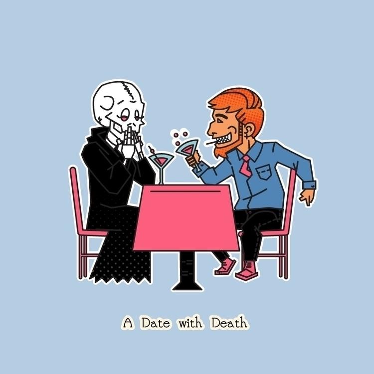 date Death - illustration, design - aleshawilliams | ello