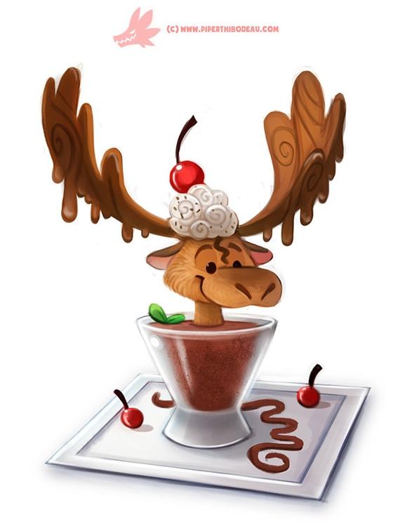 Daily Paint Chocolate Mousse - 1168. - piperthibodeau   ello