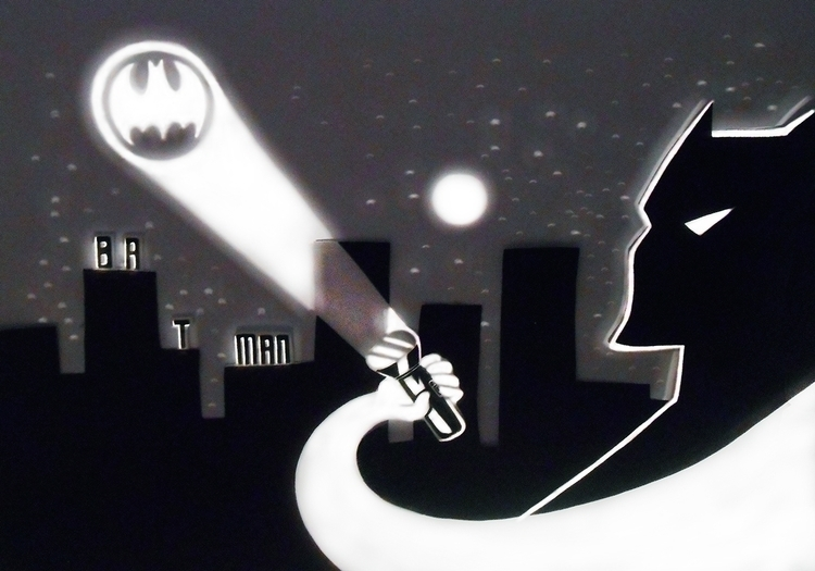 play light shadow. Batman.= - halynapovhanych | ello