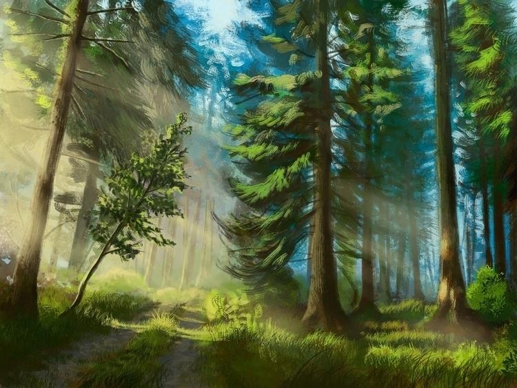 Early Morning 3) Digital Painti - siberian_sweaters   ello