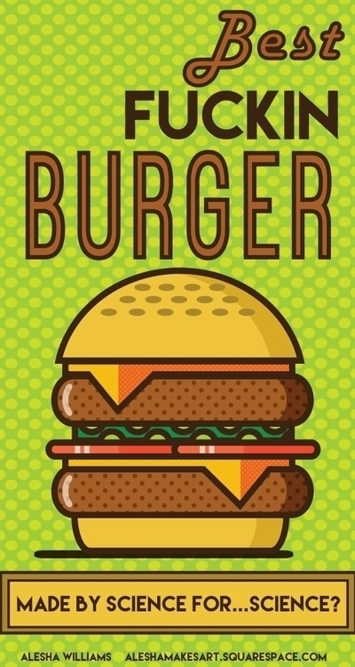 Burger Poster - food, foodillustration - aleshawilliams | ello