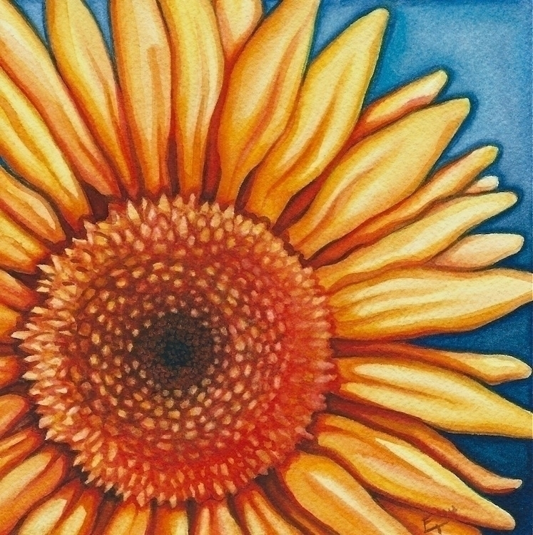 Sunshine - illustration, painting - artfulu | ello