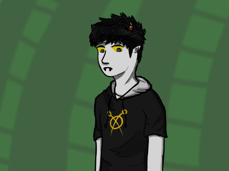 Practicing coloring_Gilian - homestuck - gillpradi | ello