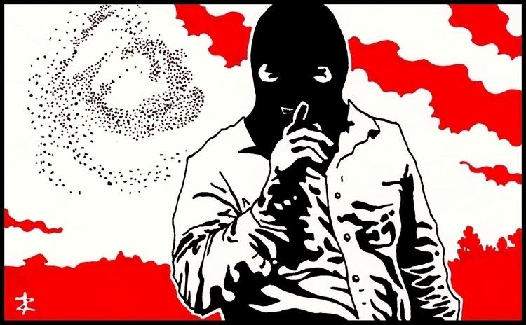 Sshhhh - illustration, truedetective - zhenyayanovich | ello