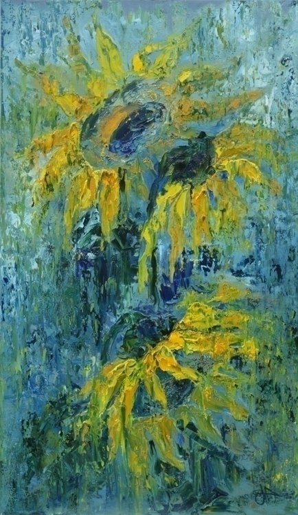 Sunflowers 145x85 Oil canvas. 2 - tanya_vasilenko | ello