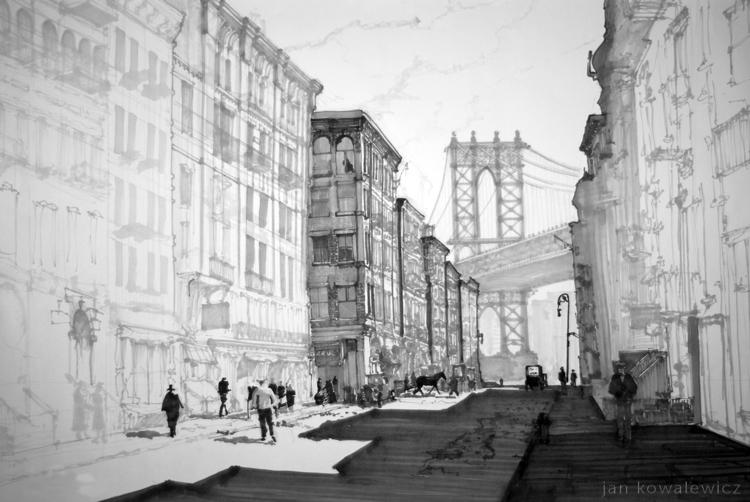 NYC, 50x70cm Tria Markers - architecture - jandraws | ello