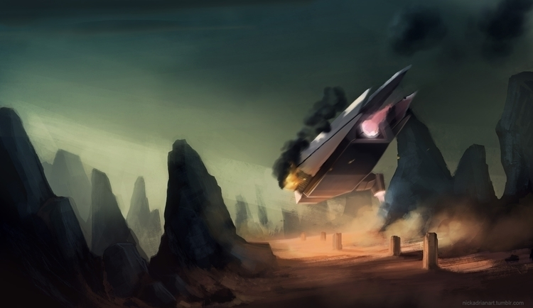 Game concept art. Crash landing - nickadrian | ello