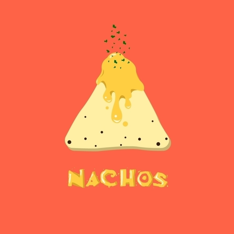 illustration favorite food - nachos - jamiephan | ello