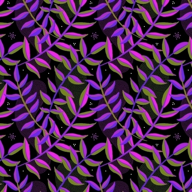 night foliage - pattern, patterndesign - stephaniekubo-8873 | ello
