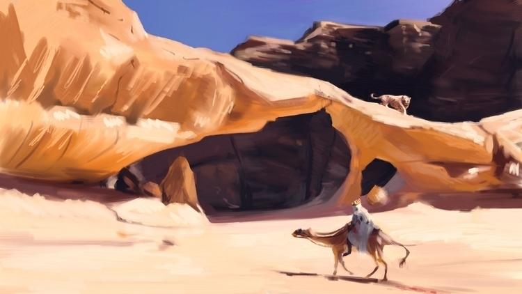 King - illustration, desert, digitalart - nickadrian | ello