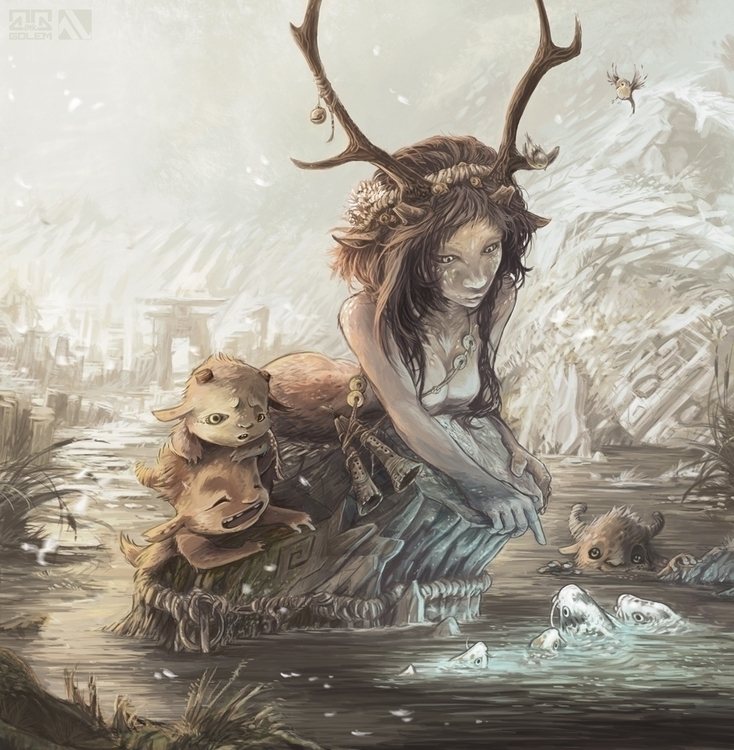 faun - pangod, mythology, magicalcreature - inkgolem | ello