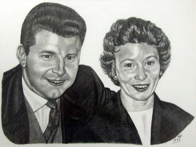 Mum Dad - drawing, portrait, pencil - stevenhart   ello