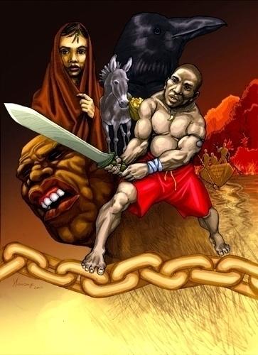Akindele Wrestlers Son - pencildrawing - shola-5390 | ello