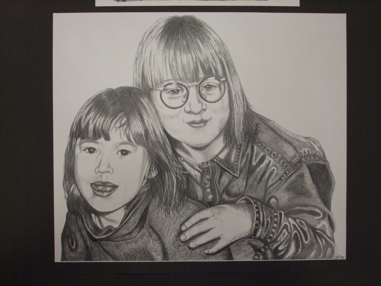 Sisters - drawing, pencil, portrait - stevenhart | ello