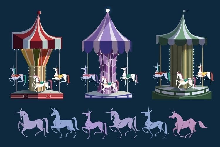 Carousel - carousel, unicorn, visdev - ashleyodell | ello