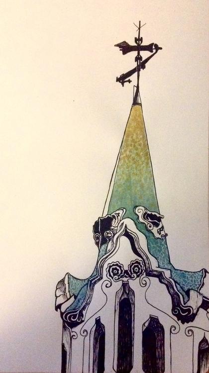 watercolour sketch house Park G - atrocity_exhibition | ello
