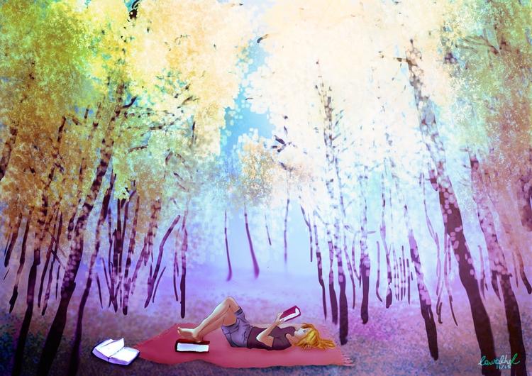Study colors landscape - illustration - carvalhol | ello