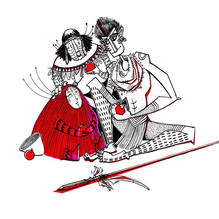 Red, Grandma, Huntsman - illustration - maggiemcaton | ello