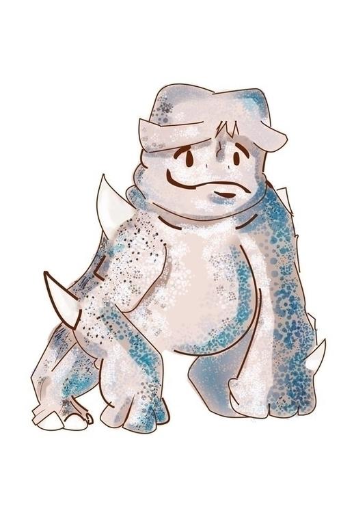 Kaiju - illustration, painting, characterdesign - carvalhol | ello