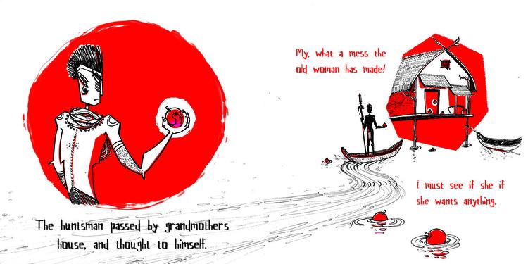 Red: South Pacific Inspired Hun - maggiemcaton | ello