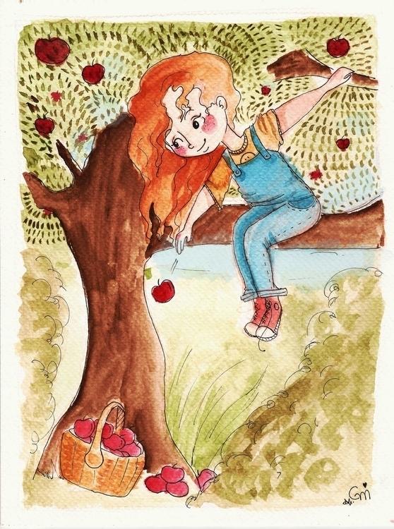 Picking apples/2016 - illustration - gabrielamolinaro   ello