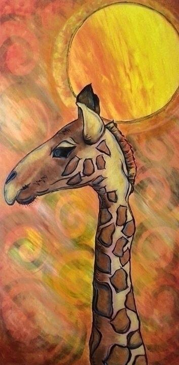 Giraffe - painting, giraffe, abstractpainting - michele-1314 | ello