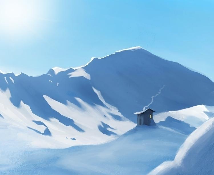 snowy - illustration, background - liviaconstante   ello