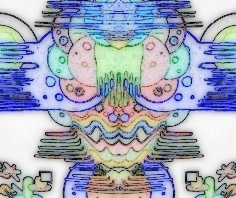 Alien eyes - #abstract, illustration - cheechwiz | ello