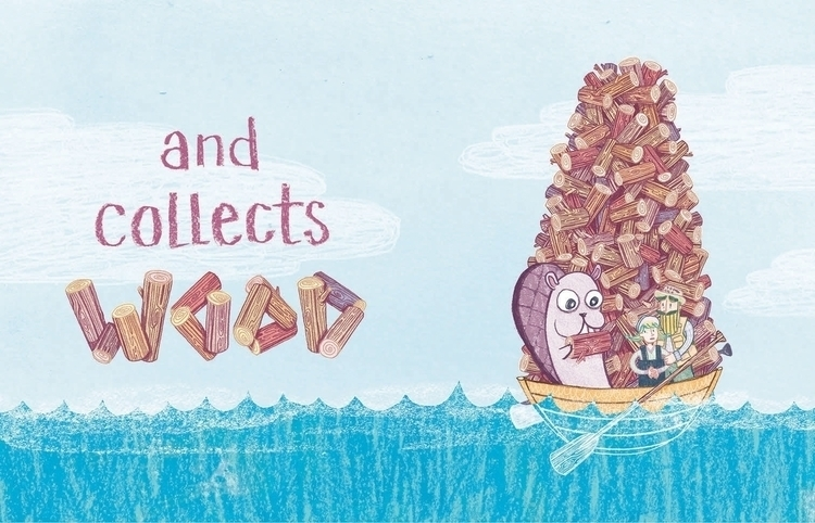 Beaver Boat! sits - illustration - maggiemcaton | ello