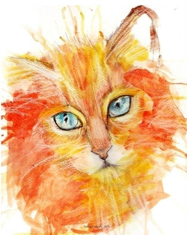 Orange Watercolors, wax soluble - zoya2016 | ello