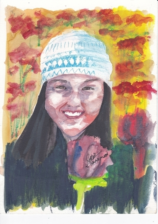 Lovely karen - watercolor, woman - headbangindude | ello