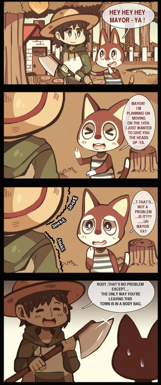 LEAVES TOWN - animalcrossing, comic - heavywoodenbox | ello