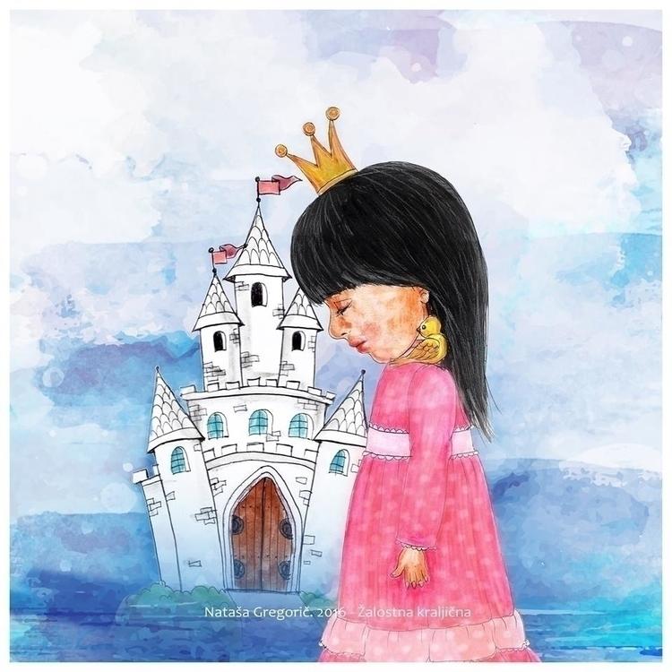 Sad Princess Watercolor pencils - zoya2016 | ello