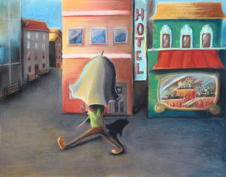 Man Lived Umbrella - illustration - abigailkraft | ello
