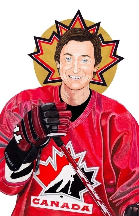 drawing, portrait, sports, waynegretzky - stevenhart | ello