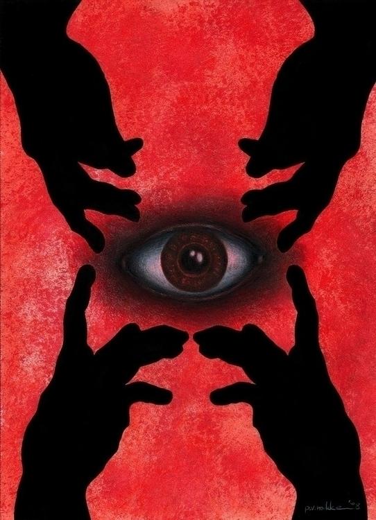 Eye Creation, acrylic, ink penc - przemek-4429 | ello