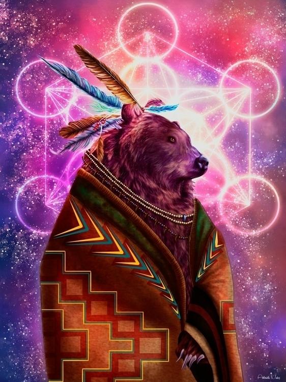 Ancient Wisdom - illustration, digitalart - kuukistudio | ello