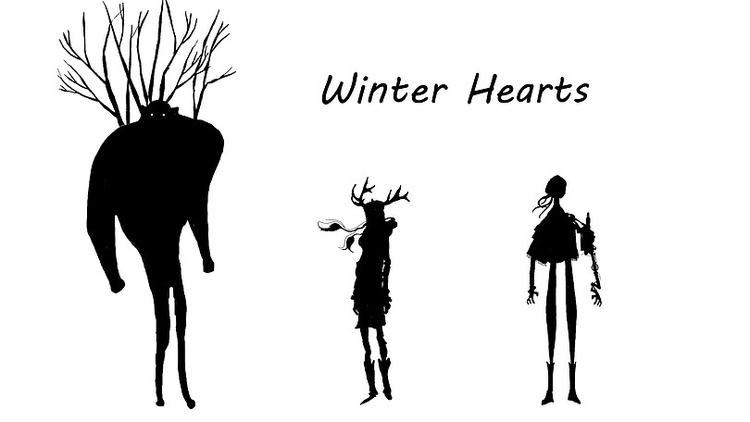 Silhouettes 'Winter Hearts - characterdesign - derptin   ello