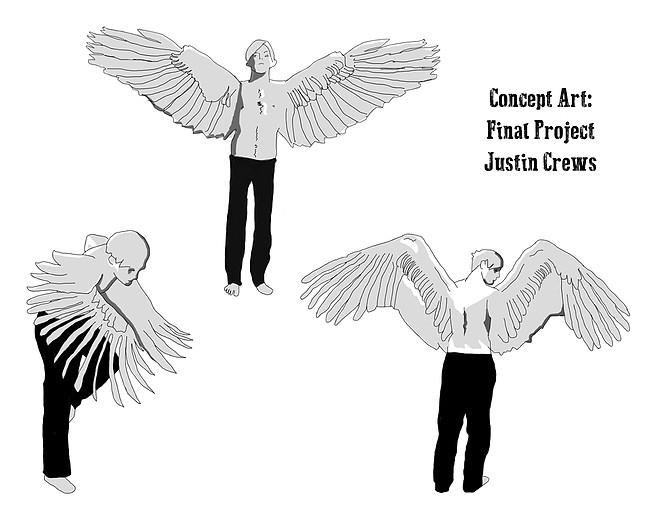 Portrait Wings - character, design - derptin   ello