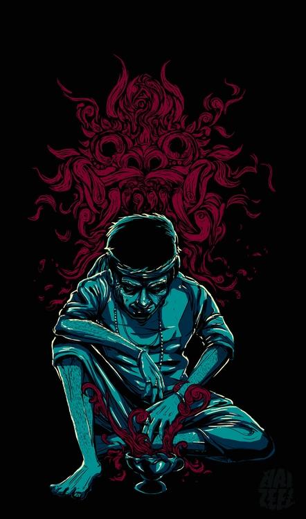 bomoh - illustration, malay, shaman - haizeel | ello