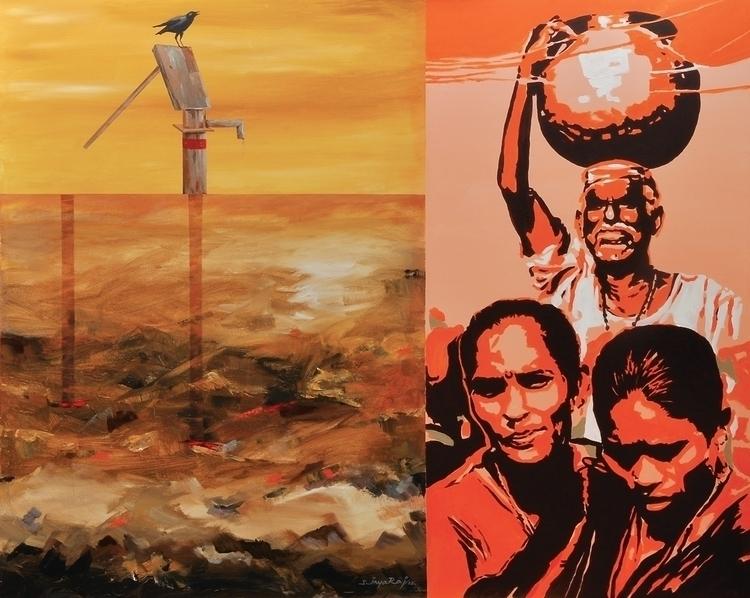 water, painting, acryliconcanvas - sjayaraj999 | ello