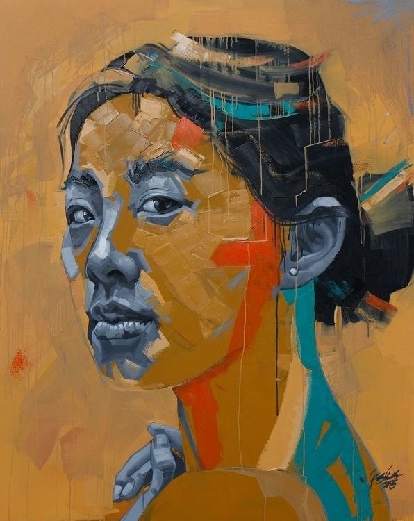 Gaze Nam - painting, female, femalemodel - koscos | ello