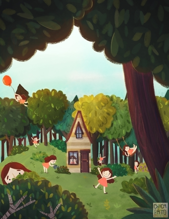 Woods - woods, children'sillustration - chicapato | ello