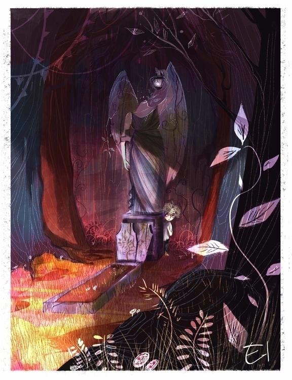 grave - Graveyard book - ghoul, thegraveyardbook - el0394 | ello
