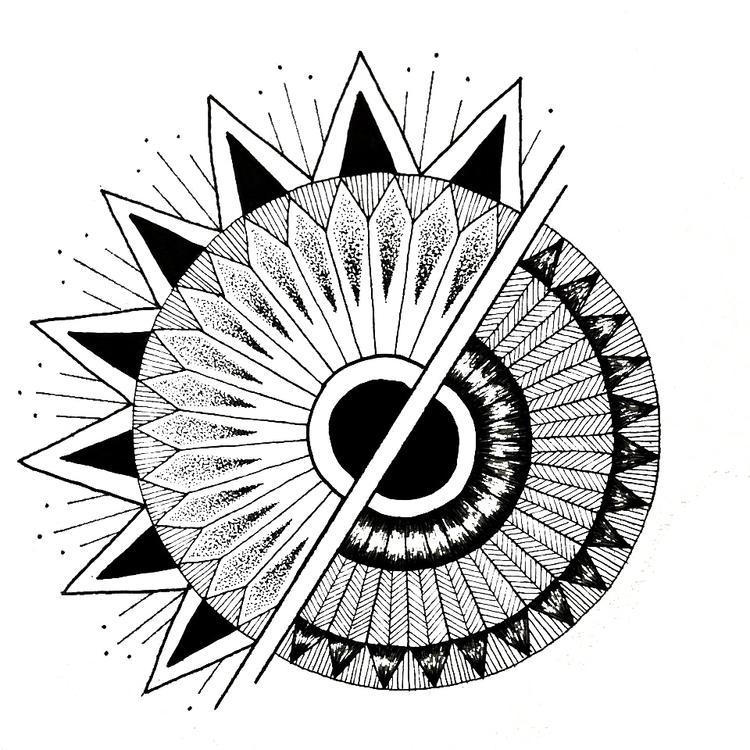 Geometric mandala - geometric, geometricmandala - marionbelliot | ello