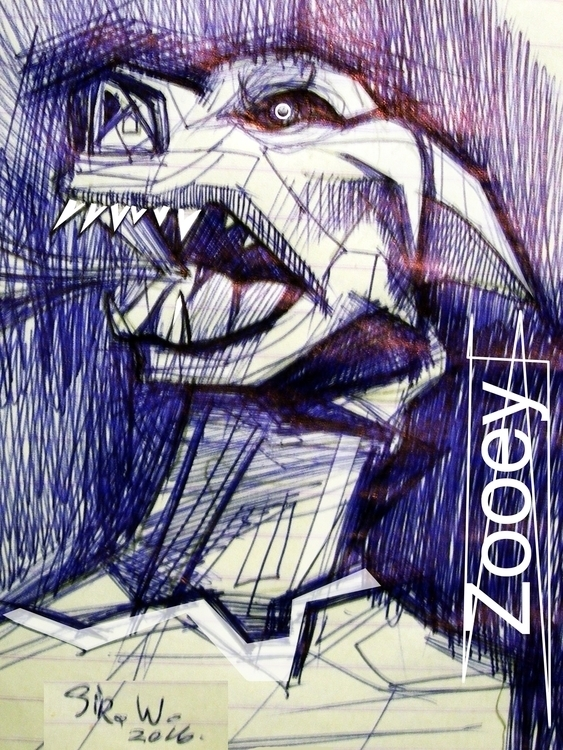 Zooey - sketch, illustration - vitalic-1248 | ello