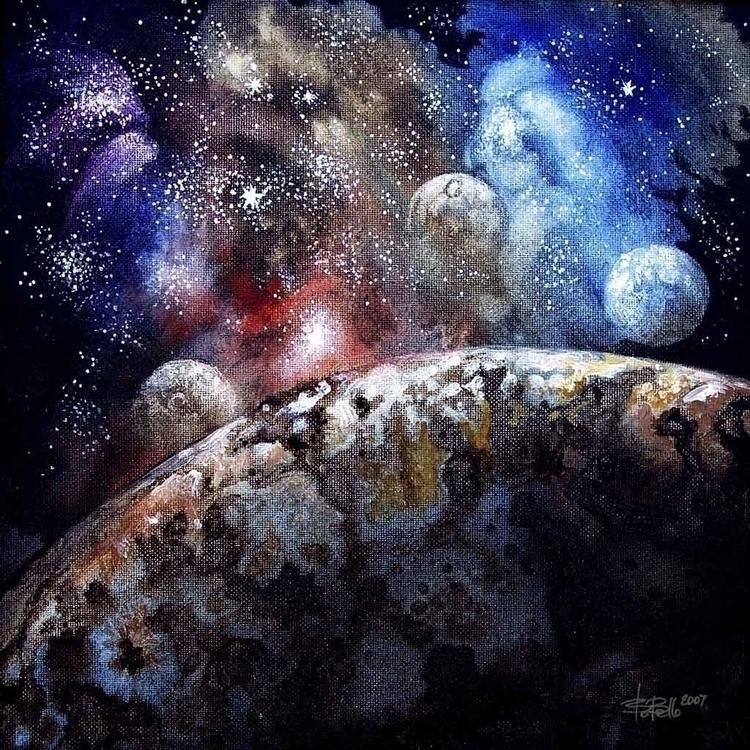 Earth 2, 2007, oil canvas, 12x1 - timeship | ello