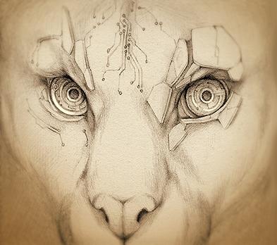 Bionic eyes - original illustra - rocky-1221 | ello