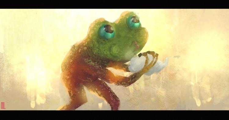 illustration, frog, fantasy, digital - arthurahoy | ello