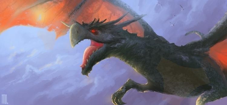fantasy, dragon, illustration - arthurahoy | ello